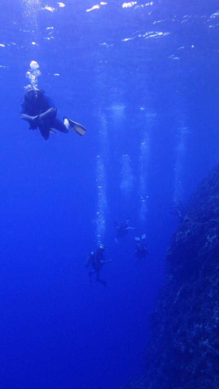 Molokini Crater Backwall – Divers